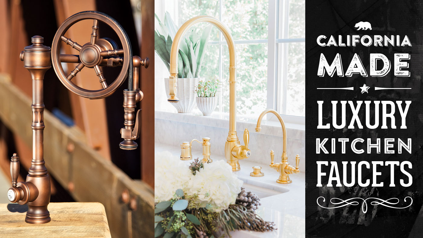 waterstone high end luxury kitchen faucets made in the usa faucet com 4433 100 224 in oil rubbed bronze by american